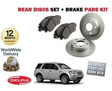 LAND ROVER FREELANDER 2 2.2TD TD4 2006-> REAR BRAKE DISCS SET AND DISC PADS KIT