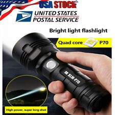 Outdoor Super-bright 90000lm Flashlight LED P70 Tactical Torch 50W