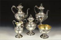 5 Piece Charters, Cann & Dunn American Coin Silver Tea Set 111.2 TROY Silver