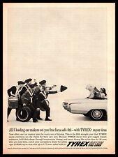 1963 Tyrex Rayon Tire Cord Tires Revolutionary War Hat English Sheepdog Print Ad