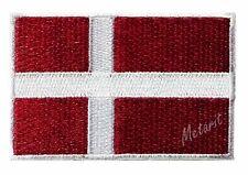 #78 - DENMARK Flag Iron On Patch Aufbügler Applique Ecusson Emblem Wappe Fahne