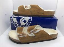 BIRKENSTOCK Mens Arizona Fur Mink Brown Sandals Shoes Sz 10 EU43 ZB6-1243