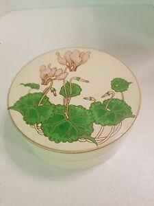 6 Vintage Otagiri Coasters Japan Lacquerware pink flowers