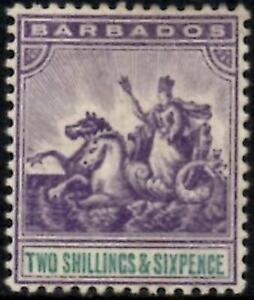 Barbados 1892-1903  2/6d Violet & Green   SG.115 Mint (Hinged)  Cat:£150