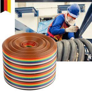 1/2/3/4/5M Flachbandkabel Meterware 1,27mm für 2.54mm Verbinder Ribbon FC Kabel
