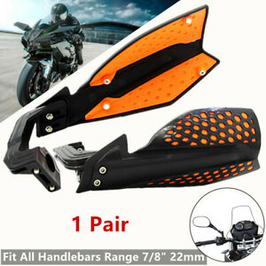 2*Two-color Motorcycle Hand Guard Handlebar Wind Deflector Protector 22 mm (L+R)