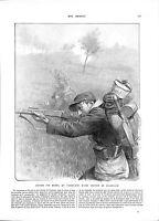 WWI Poilus Tirailleurs Section de Coloniaux Bataille de la Marne A ILLUSTRATION
