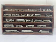 New ListingFranklin Mint The World's Greatest Locomotives Pewter Train Set w/Display Case