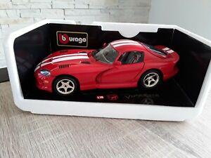 DODGE VIPER GTS COUPE (1997) BBURAGO 1/18 COMME NEUVE