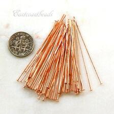 Copper Head Pins, 2 Inch, 24 Guage, TierraCast Head Pins, 100 Pieces, 2908