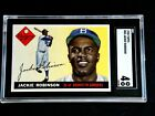ORIGINAL JACKIE ROBINSON 1955 TOPPS #50 SGC 4 BROOKLYN DODGERS BASEBALL CARD