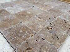 Piastrelle - Mosaico 10x10 cm in Travertino Noce burattato