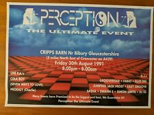 Perception presents The Ultimate Event 1991 Acid House Rave Flyer