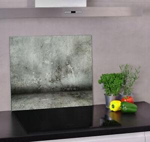 Glas Herdabdeckplatte für Küche Herdabdeckung Beton, Wand, Betonfussboden