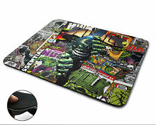 Hulk Comic Mouse Mat, Laptop Or Desktop Mice Pads, Comic Gaming Print Design