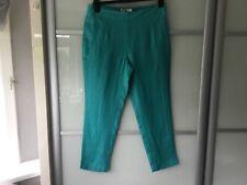 East Capri pants three quarter length turquoise/jade capris 109% linen size 10 b