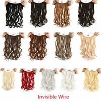 natural invisible fil perruques secret ligne pas de chargeurs cheveux extension