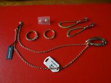 03- Lot de bijoux fantaisie Collier Ted Lapidus, boucles d'oreilles et bagues