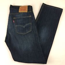 Levis Mens 513 Jeans Dark Faded Wash Straight Leg Mid Rise 34x31 Actual Size