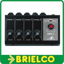 MESA DE MEZCLAS MINIATURA 148X85X55MM 4 MICROFONOS JACK 6.3MM 4 CANALES BD7104