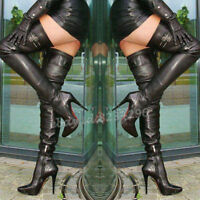 TOP Hot Overkneestiefel Damen Boots Stiletto High Heels Stiefel Schuhe Gr35-47
