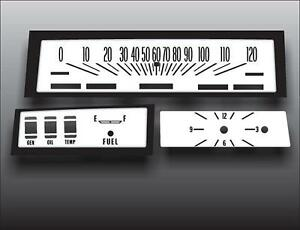 1973-1974 Chevrolet Chevelle Sweep Dash Instrument Cluster White Face Gauges