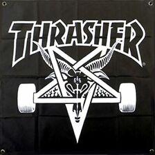 Thrasher Magazine Skate Goat Skateboard Banner Black