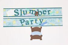 Kids Sleep Over Scrapbook Border Title Scrapbooking album Slumber Party Child