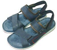 Rohde Herren Schuhe Sandale Sandalette Pantolette 5986 56 blau ocean Leder