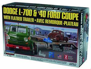 LINDBERG MODEL KIT 73068 DODGE L-700 & 1940 FORD COUPE W/ TRAILER, FACTOR SE