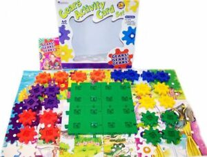 Learning Resources GEARS ACTIVITY CARD SET w 4 bases 24 gears EARLY LEARNING FUN