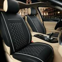 Universal Front Seat Cover Cushion Breathable PULeather Car Seat Pad Black white