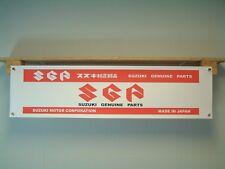 Suzuki Parts BANNER Motorcycle Spares Dealer Workshop Bike Show Advertising sign