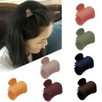 1pc Women Matte Hair Claws Solid Color Cute Hairpins Hair Clips Hair Accessories