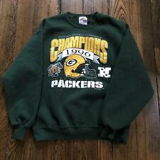 Green Bay Packers Superbowl XXXI NFC Champions 1996 Vintage Sweatshirt L