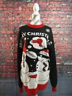 PRE-OWNED men's ARVILHILL / UGLY CHRISTMAS SWEATER / NAUGHTY dirty - SIZE MED