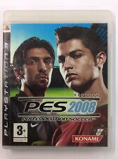 PES 2008 PRO EVOLUTION SOCCER Gioco e Manuale in Italiano PS3 Sony Playstation
