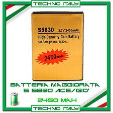 Batteria sostituzione ricambio SAMSUNG S5830 Ace 2450mAh maggiorata potenziata