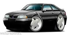1993 Ford Mustang LX 5.0 Hatchback Fox Body Wall Graphic Poster Decal Cling HOT