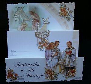 100 Invitaciones de,A Mi Bautizo(Spanish Baptism Christening invitations)Favors