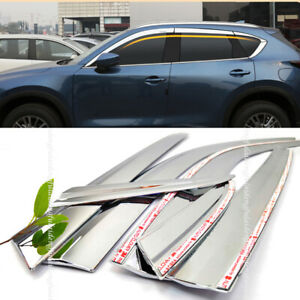 For Mazda CX-5 17-21 ABS Chrome Window Visor Vent Shade Rain Guard Door Visor