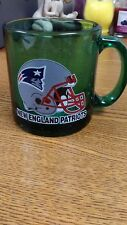 NFL NEW ENGLAND PATRIOTS GREEN GLASS MUG NEW
