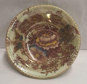 Maling Pottery Green Pheasant Round Dish c1950-55 Pn 6549 A/F Stained 11cm Wide