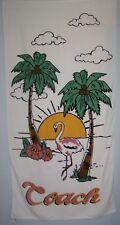 COACH F28819 BEACH TOWEL TROPICAL FLAMINGO PALM TREE HIBISCUS NWT AUTHENTIC $125