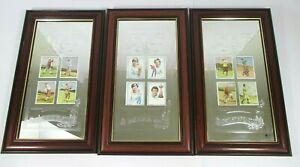 Wills Collectable Cigarette Golf Cards Cigarette Golfer Cards Framed 12 Cards