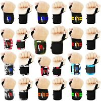 Power Weight Lifting Wrist Wraps Gym Training Straps Hand Bar Support Gloves NEW