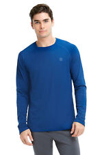 New Mens Balance Collection Active Performance Long Sleeve Blue Tee Xl