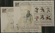 """Belgique, België, 2 Blocs de timbres """" Roses Redouté """"  neufs MNH, bien"""