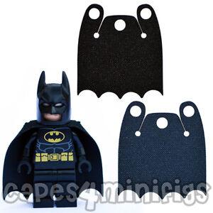 3 CUSTOM 'Over shoulder' bite capes for your Lego Batman minifig. CAPE ONLY