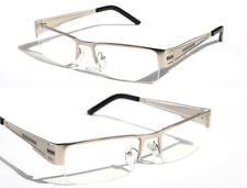 Half Rim Premium Silver Metal Rectangle Reader Reading Glasses +1.50   1230